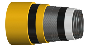 10 Inch 13mp Flexible Pipe Export to Malaysia-1